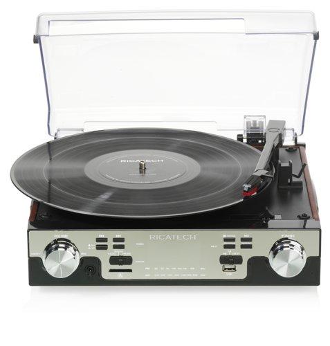 Ricatech RTT88 - Tocadiscos (MP3, Corriente alterna, 15W, Negro ...