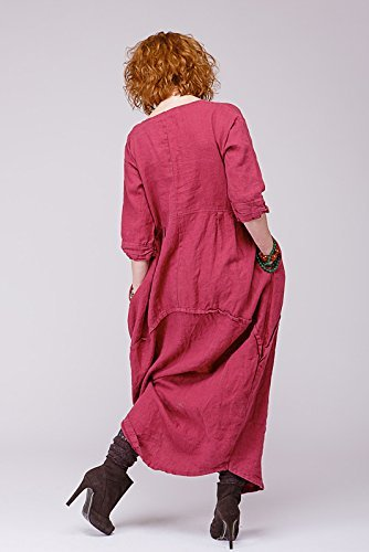 Boho pure linen dress