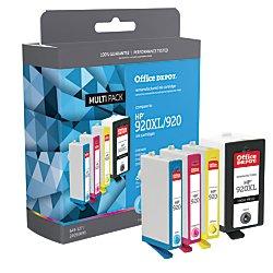 Office Depot OD920XLK920CMY-C (HP 920XL/920) Remanufactured Black/Color Ink Cartridges, Pack Of 4, OD920XLK920CMY-C