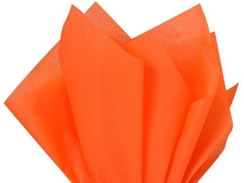 Bulk Bright Orange Tissue Paper 15 Inch x