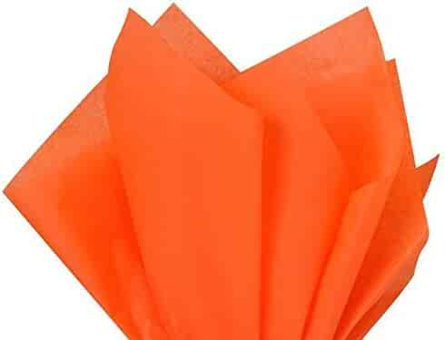 Brand New Orange Bulk Tissue Paper 15 Inch x 20 Inch - 100 Sheets-Flexicore Packaging®