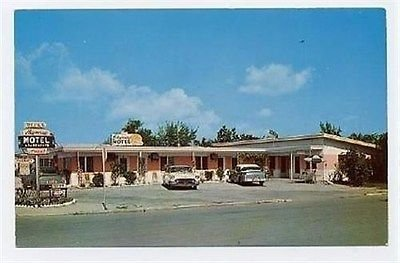 Sky Way Motel Postcard St Petersburg Florida - Petersburg Women St