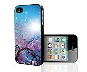 Pretty Cherry Blossom in Bright Blue Spring Sky Hard Snap on Case (iPhone 5/5s)