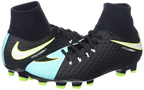Fútbol white Dynamic Phelon vert Volt black light Zapatillas Mujer Para De 3 Azul Aqua Nike Hypervenom Fit Fg qFU886