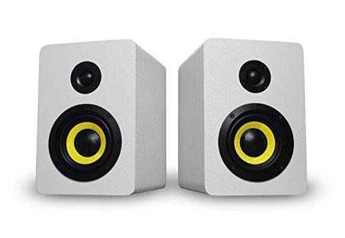 Thonet and Vander Vertrag BT Bluetooth Bookshelf Speakers (180 Peak Watts) Compact 2.0 Studio Monitors - Enhanced Bass Speaker System - Works with iOS/Android/MacOS/Windows (German Engineered) White by Thonet and Vander (Image #5)