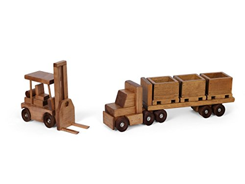 Amish-Made-Large-Wooden-Toy-Truck-Trailer-with-Forklift-Set