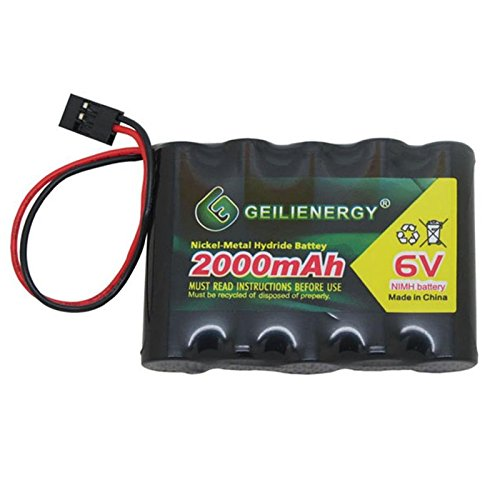 QBLPOWER 6V 2000mAh NiMH RX Battery Packs with Hitec Connector for RC Aircrafts and Walking Robot Rechargeable ()