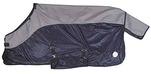 Dark bluee grey 135 Dark bluee grey 135 HKM Functional Fly Blanket Combi with Neck Piece