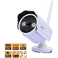 Wireless IP Security Bullet Camera, Night Vision and Motion Detection Email Alert, Waterproof Surveillance Network Camera,