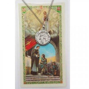 St joan of arc pendant and prayer card set includes a 18 in chain st joan of arc pendant and prayer card set includes a 18 in aloadofball Gallery