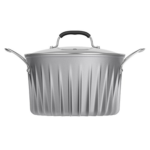 Flare Cookware 6 Qt Stock Pot with Glass Lid