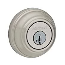 Kwikset 980 Single Cylinder Deadbolt featuring SmartKey in Satin Nickel