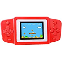 "ZHISHAN Kids Classic Retro Game Handheld Portable Video Console Rechargeable Player 2.5""LCD 8 Bit 268 in 1 games (Red)"