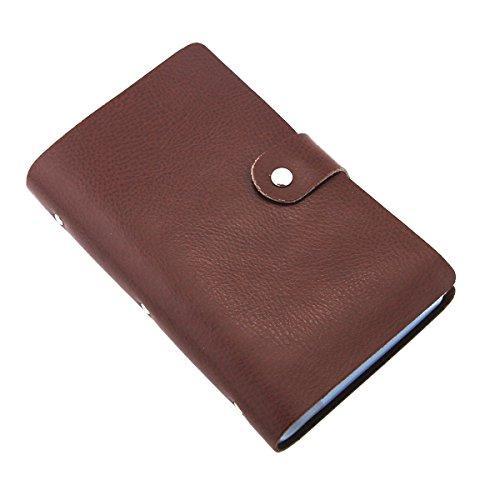 Esdrem Soft Leather Business Name Card Holder Book Credit Card Holder Wallet with 90 Card Pockets (Coffee)