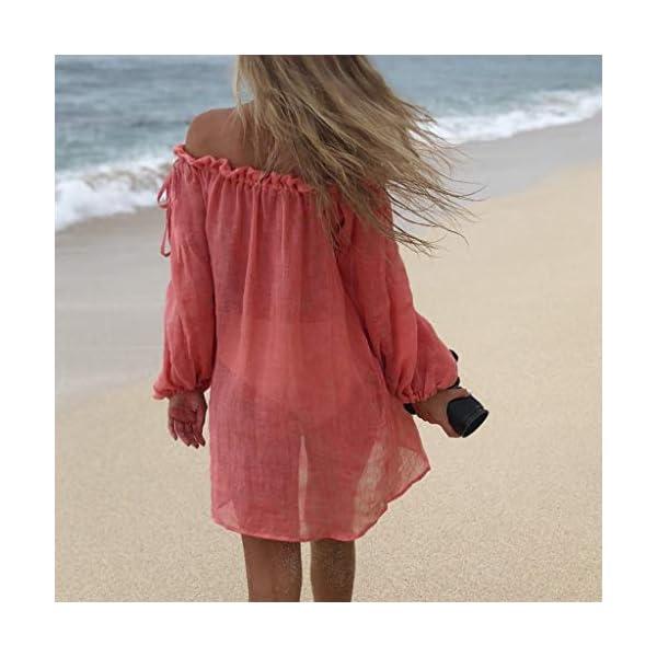 Copricostume Donna Pareo Elegante Costumi Bikini Cover Up Mare Abito Spiaggia Vestito Bagno Estivi Kimono Fotografia… 2 spesavip