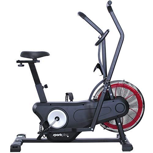 SportPlus Air Bike Indoor hometrainer, ergometer voor fitness, spinning en crossfit, crosstrainer voor thuis…