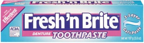 Fresh 'n Brite Denture Toothpaste 3.8 Ounce
