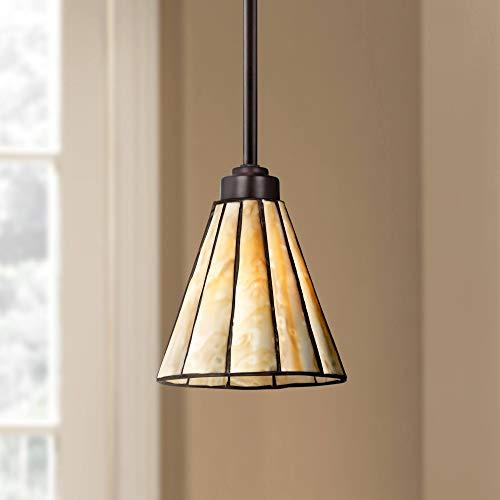 "Tiffany Style 7 1/2"" Wide Honey Glass Mini Pendant - Robert Louis Tiffany"