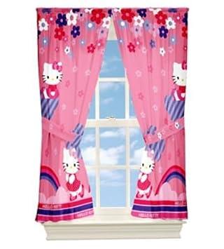 Hello Kitty Kinderzimmer   Amazon De Hello Kitty Kinderzimmer Vorhang Gardine 200x160 2er