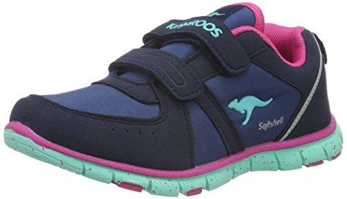 KangaROOS Nara S - Zapatillas Unisex Niños Bleu (Dk Navy/Salmon 466)