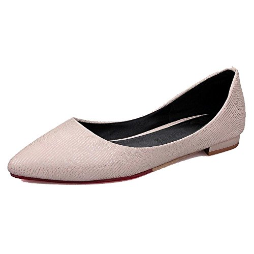 Shoes Women on Pumps Pink TAOFFEN Flats Slip Light WSq6wxn7p