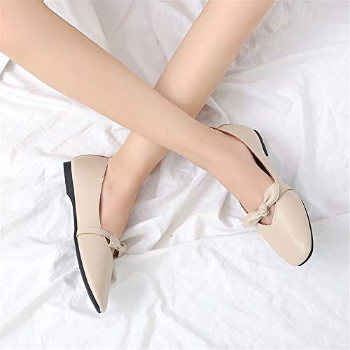 shoes shoes fashion comfortable FLYRCX casual shallow office work single flat 38 EU mouth ladies shoes shoes Bow tYqp8Hqv