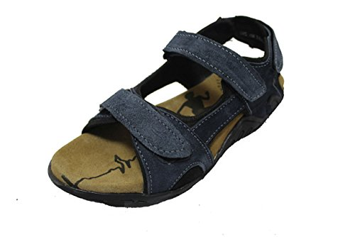 Onlinemaniya Mens Blue Faux Fur Athletic And Outdoor Leather Sandals - 7 UK