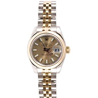 63b1fa3335a Amazon.com: Rolex Ladys 179160 Datejust Stainless Steel Oyster Band ...