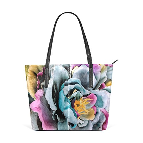 Women's Large Purse Tote Petals Bags Top Flower Rainbow Handbags Satchel Shoulder Bennigiry Handle dwq7fd