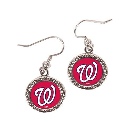 Mlb Round Earrings - MLB Washington Nationals Round Earrings, Large, Multi
