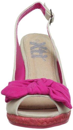 XTI Woman Wedges Espandrilles XTI25937 SP13 - Alpargatas de lona para mujer Rosa (Pink (fucsia X22))