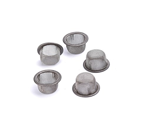 Xmifer 5Pcs 0 5Inch Diameter Crystal Tobacco Pipe Stainless Steel Mental Screen Filters For Crystal Smoking Pipes Use  Silver