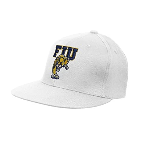 Florida International White OttoFlex Flat Bill Pro Style Hat  FIU on  Panther  - S 8b0c19ba7673