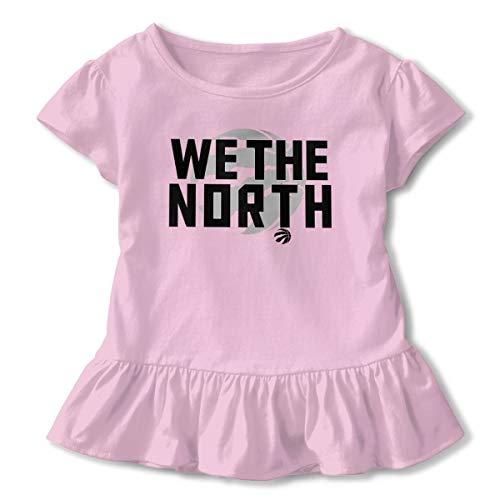 We The North Toronto Raptors Logo Little Girls Cotton Casual Print Short Sleeve Skirt Dresses 2-6T Pink 5/6T