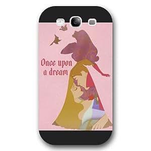 Customized Black Hard Plastic Disney Cartoon sleeping beauty Samsung Galaxy S3 Case