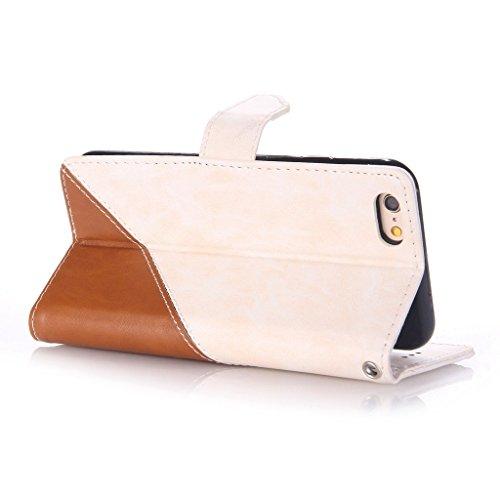 Uming® Patrón Especial de la serie de impresión colorida caja de la PU de la pistolera Caso Holster case ( Hit color Pink & Brown - para Huawei Ascend P9 ) de cuero artificial del tirón con el soporte Hit color White & Brown