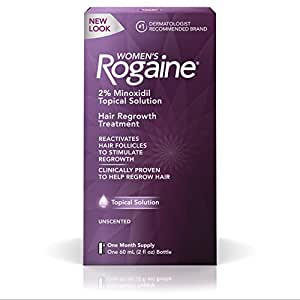 Women's Rogaine Hair Loss and Thinning Hair Treatment, Minoxidil Solution, One Month Supply