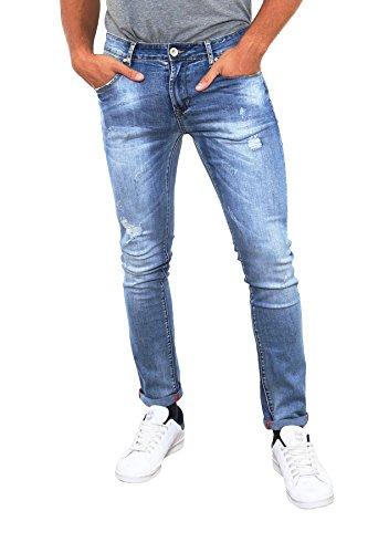 vaqueros pantalones a negro Azul 5 46 Hombre Ace azul denim slim Slim Black 39 o qwERn