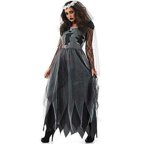Halloween Vampire Uniform Lady Role Playing Zombie Ghost Bridal Costume,M]()
