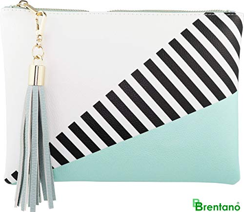 B BRENTANO Vegan Clutch Bag Pouch with Tassel Accent (Spearmint) by B BRENTANO (Image #6)