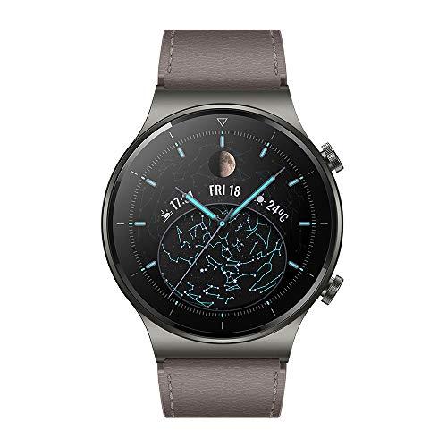 HUAWEI WATCH GT 2 Pro – Smartwatch con pantalla AMOLED de 1.39″, hasta dos semanas de batería, GPS y GLONASS, SpO2, +100 modos de entrenamiento, llamadas bluetooth, color gris