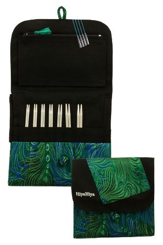 HiyaHiya Interchangeable 5inch Steel Knitting Needle Set; Small Tip Sizes (US 2-8) Assorted Cases