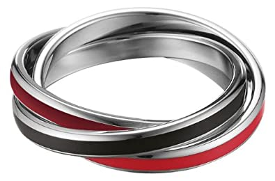 ESPRIT Women's Ring Stainless Steel Rhodium Plated MARIN mix QnUmTMfnFF