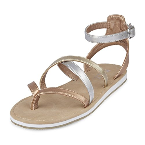 The Children's Place Girls' E BG Strappy SS Flat Sandal, Mix