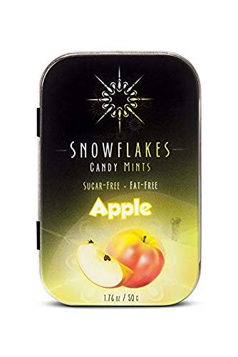Apple Xylitol Candy Chips - Snowflakes 1LB Bag - Handcrafted with ONLY 2 Ingredients | Diabetic-friendly, Non-GMO, Vegan, GF & Kosher | Purest sugar-free candy in the world!