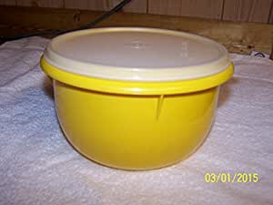 Tupperware Medium Mixing Bowl 8cup Sunny with New Sheer Seal