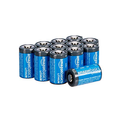 affordable AmazonBasics Lithium CR2 3V Batteries - Pack of 12 (Appearance may vary)