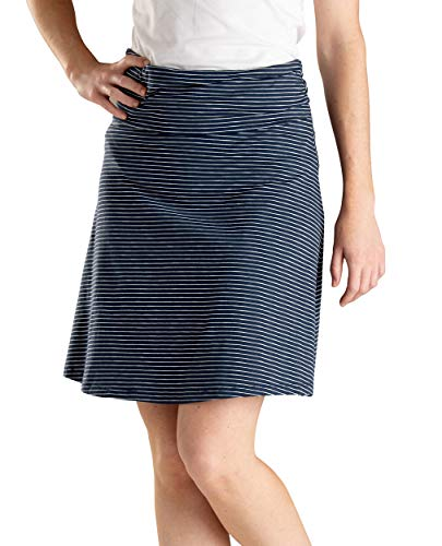 - Toad&Co Women's Chaka Skirt, Deep Navy Mini Stripe, M