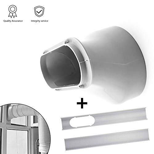 (Window Slide Kit Plate/Window Adapter, Portable AC Vent Kit Exhaust Hose Connector Kit Window Slide Kit Plate 6 inch Window Adapter for Portable Air Conditioner )