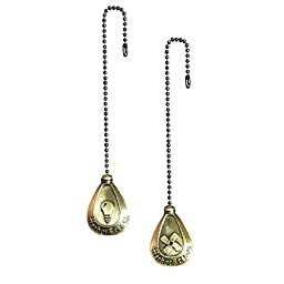 Harbor Breeze 2-pack Antique Brass Pull Chain